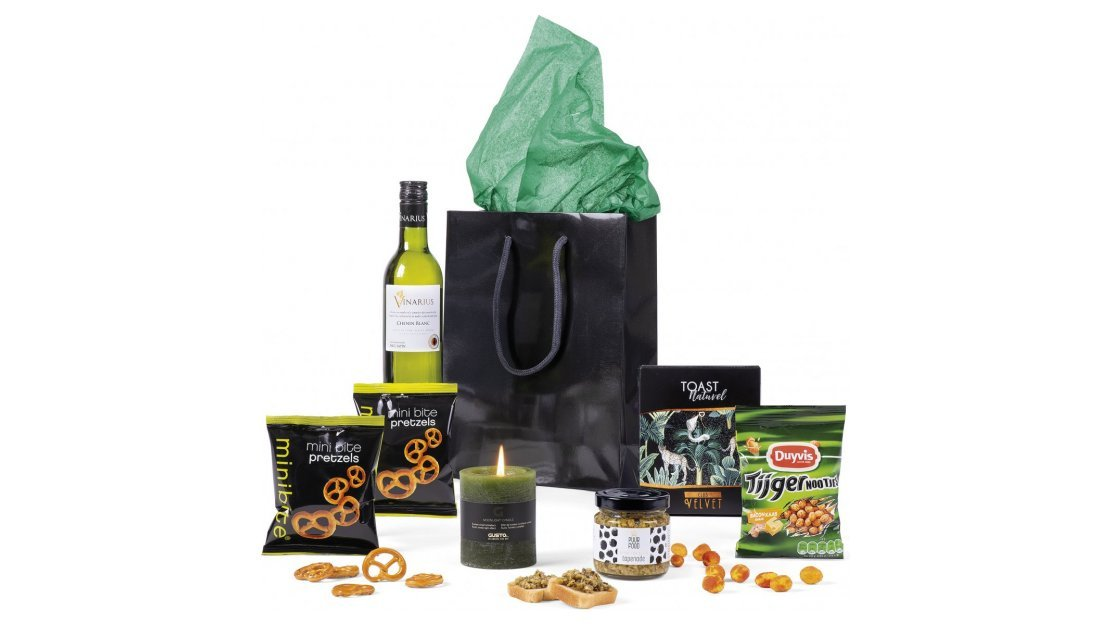 Kerstpakket: Black shopper